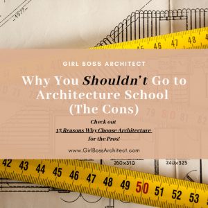 Why you shouldn't go to architecture school