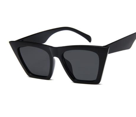 Black Gray Square Sunglasses