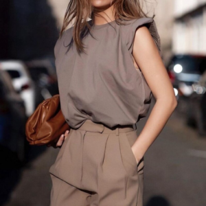 Sleeveless Blouse worn by a model